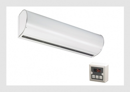 Large commercial air curtain