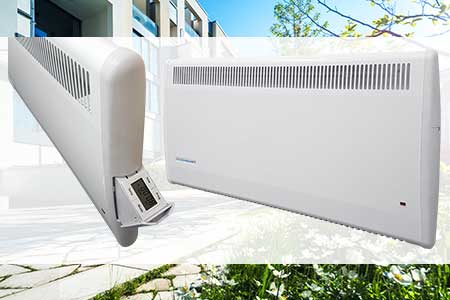 PLE panel heater with electronic timer