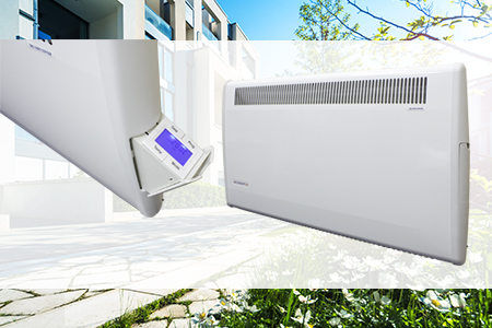 PLSTiE fan heater with intelligent fan control and electronic 7-day timer