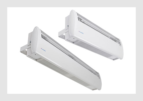 Wireless controlled air curtains