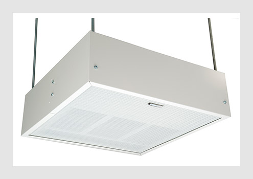 Surface ceiling fan heaters