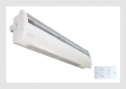 Tall double door air curtain